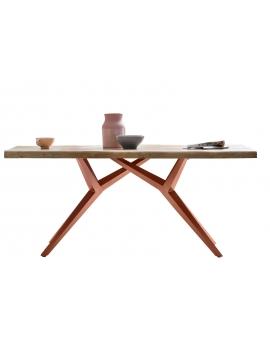 Tisch Porsu natur Kreuzfuss-X antikbraun_29429
