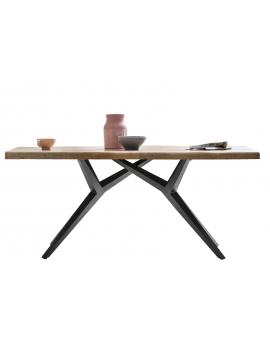 Tisch Porsu natur Kreuzfuss-X antikschwarz_29435