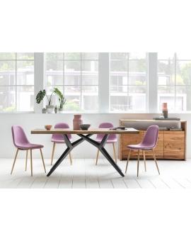 Tisch Porsu natur Kreuzfuss-X antikschwarz_29438