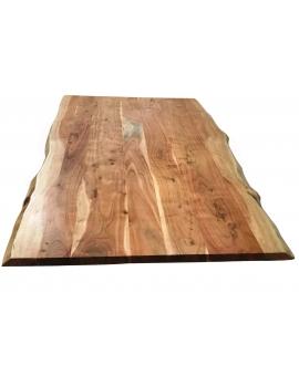 Tisch Porsu natur Kreuzfuss-X antiksilbern_29442