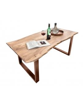Tisch Porsu natur Kufe antikbraun_29446