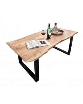 Tisch Porsu natur Kufe antikschwarz_29447