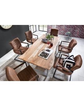 Tisch Porsu natur Kufe antiksilbern_29455