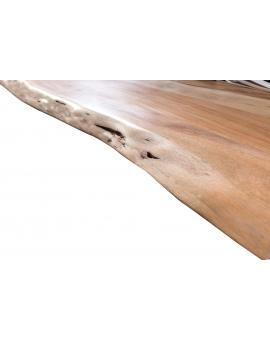 Tisch Porsu natur Kufe antiksilbern_29458