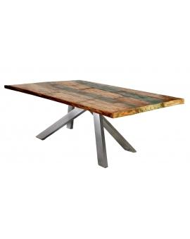 Tisch Rama bunt Metall antiksilbern_29463