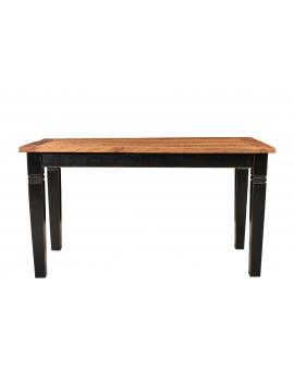 Tisch Roga honigfarbig Massivholz schwarz_29468