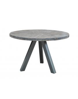 Tisch Same grau Metall silber Ø 120 cm_29471