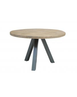 Tisch Same natur Metall silber Ø 120 cm_29477