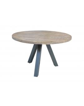 Tisch Same natur Metall silber Ø 120 cm_29478
