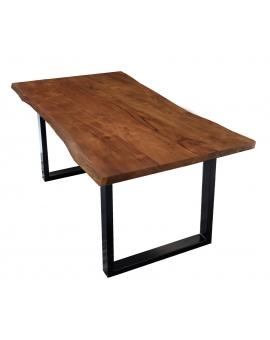 Tisch Sande nussbaumfarbig Metall schwarz_29493