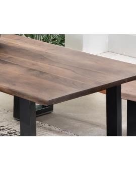 Tisch Sande nussbaumfarbig Metall schwarz_29494