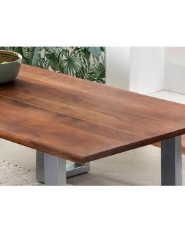 Tisch Sande nussbaumfarbig Metall silber_29497
