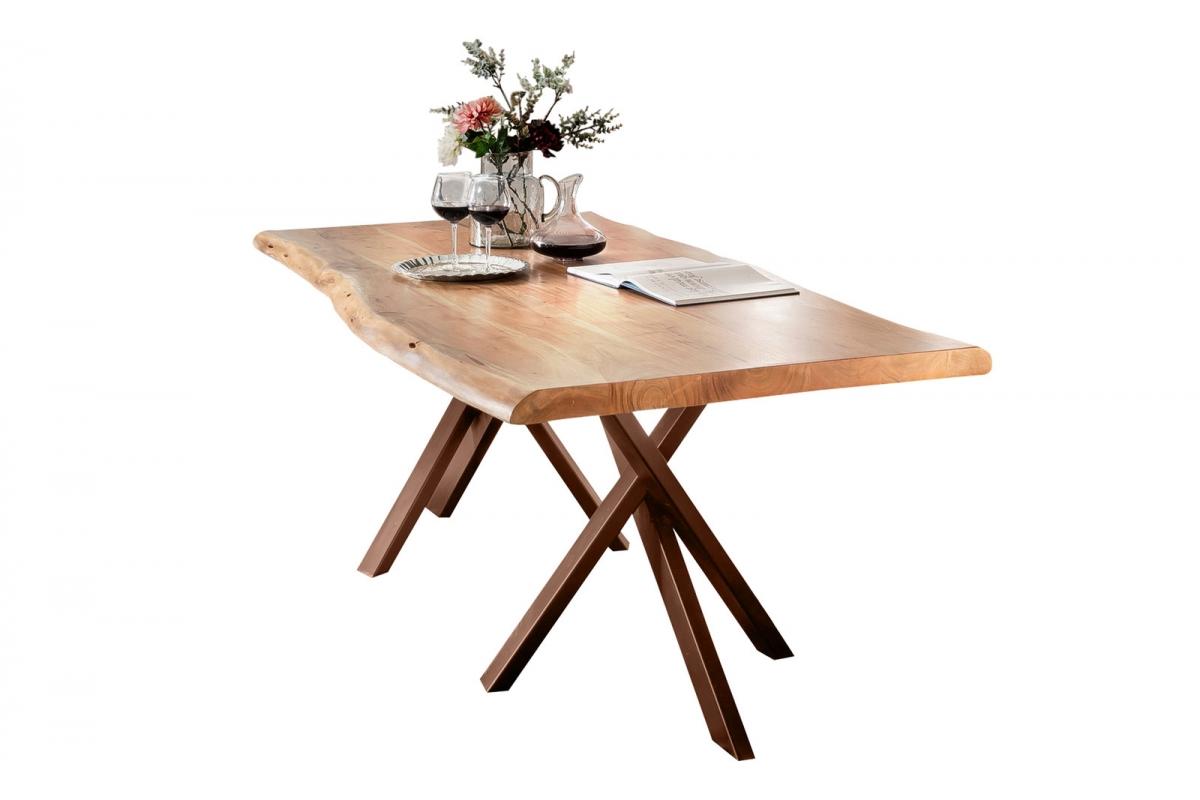 Tisch Skage natur Metall antikbraun_29503