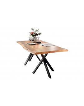Tisch Skage natur Metall antikschwarz_29505