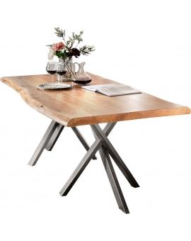Tisch Skage natur Metall antiksilbern_29507