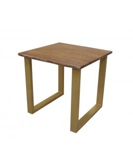 Tisch Skie nussbaumfarbig Metall messingfarbig_29522