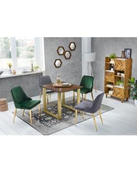 Tisch Skie nussbaumfarbig Metall messingfarbig_29523