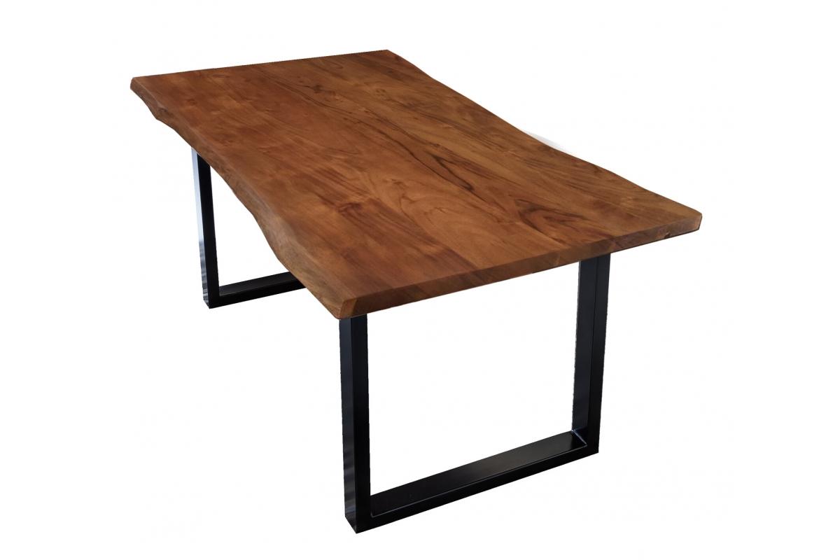 Tisch Skie nussbaumfarbig Metall schwarz_29524