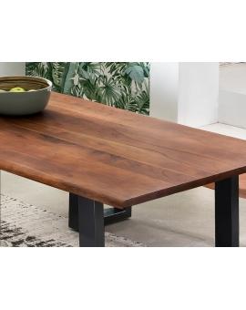 Tisch Skie nussbaumfarbig Metall schwarz_29525