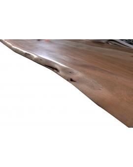 Tisch Skie nussbaumfarbig Metall schwarz_29526