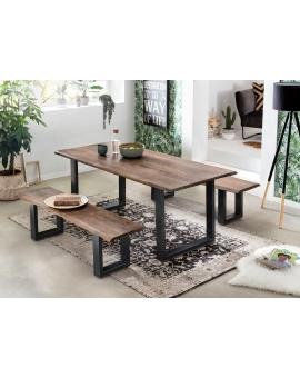Tisch Skie nussbaumfarbig Metall schwarz_29527