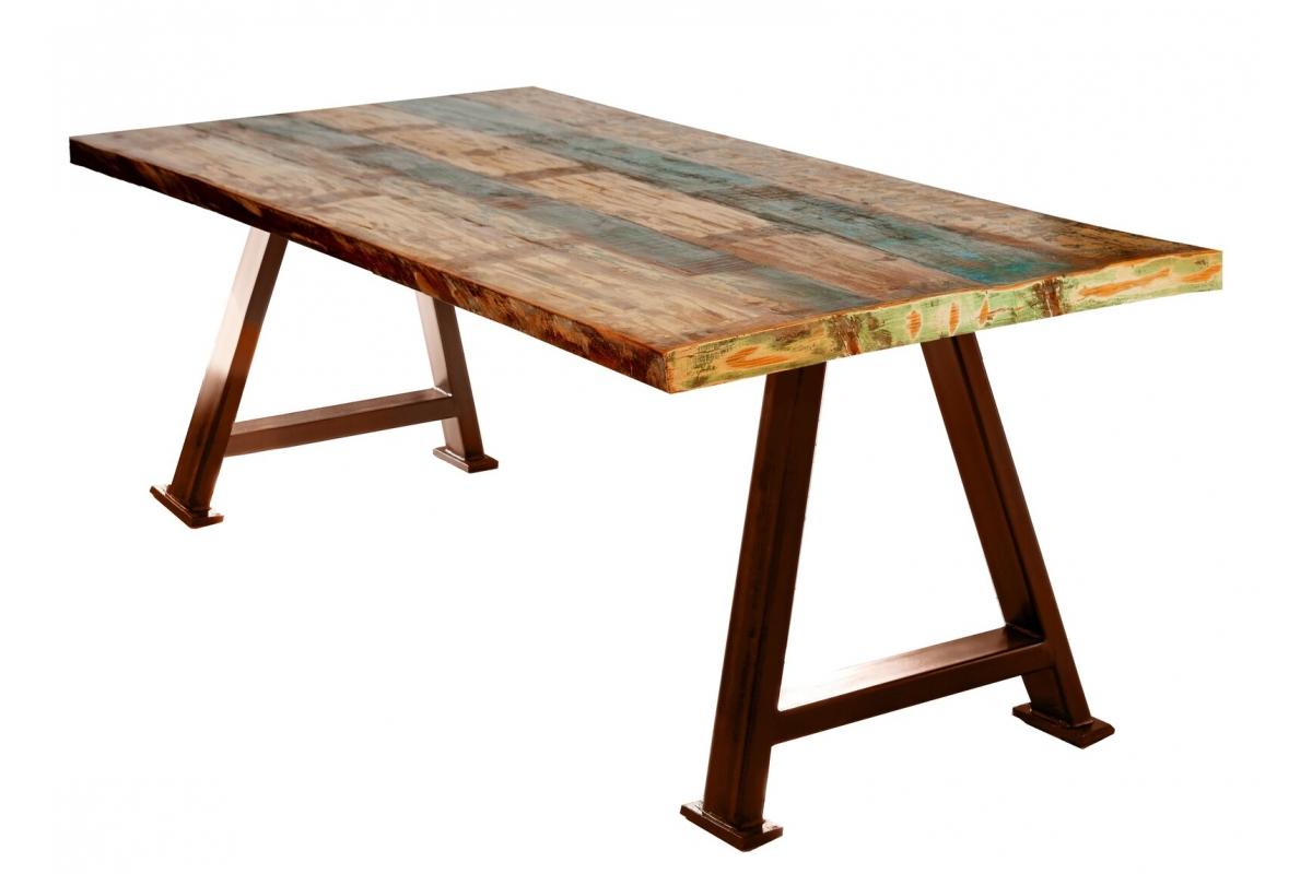 Tisch Suma bunt Metall antikbraun_29532