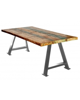 Tisch Suma bunt Metall antiksilbern_29536