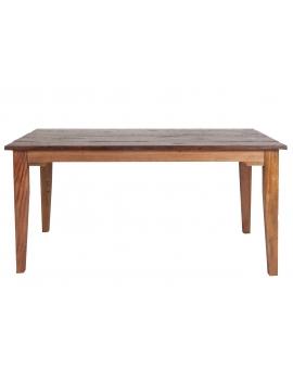 Tisch Teak braun Massivholz natur_29575