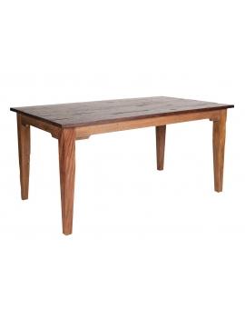 Tisch Teak braun Massivholz natur_29576