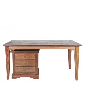 Tisch Teak braun Massivholz natur_29578