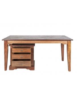 Tisch Teak braun Massivholz natur_29579