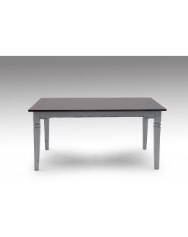 Tisch SPA dunkelbraun Massivholz taupe 90 x 160 cm_29622