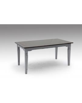 Tisch SPA dunkelbraun Massivholz taupe 90 x 160 cm_29623