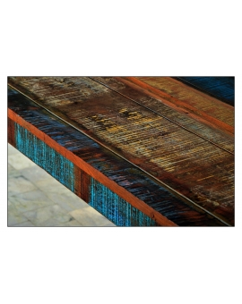 Tisch Roge bunt Massivholz 70 x 140 cm_29626