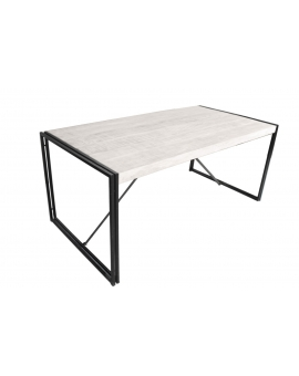 Tisch Elam weiss Metall antikschwarz 70 x 180 cm_29630