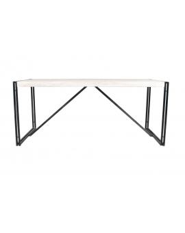 Tisch Elam weiss Metall antikschwarz 70 x 180 cm_29631
