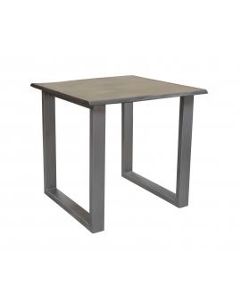 Tisch Aker antikgrau Metall antiksilbern 80 x 80 cm_29634