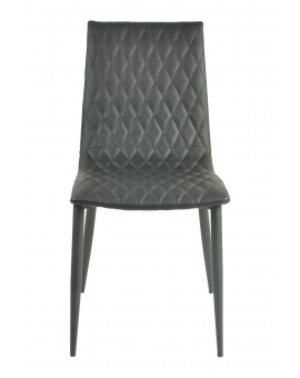 Elsa 4-Fuss schwarz Textilleder_29835
