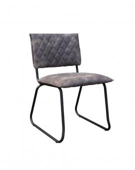 Alva Kufe schwarz Textilleder grau 2er-Set_30120