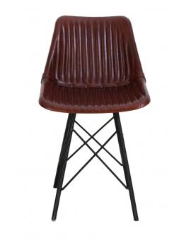 Elli 4-Fuss schwarz Textilleder dunkelbraun_30200
