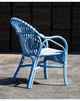 Celi 4-Fuss blau Rattan hellblau_30257