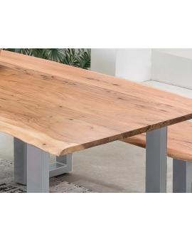 Tisch Skie natur Metall silber_31634