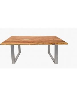 Tisch Skie natur Metall silber_31636