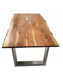 Tisch Skie natur Metall silber_31637