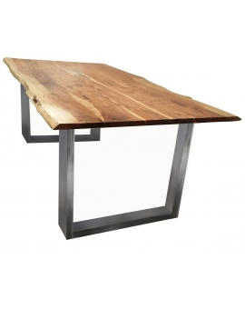 Tisch Skie natur Metall silber_31638