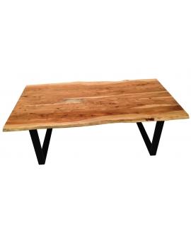 Tisch Skie natur Metall schwarz_31642
