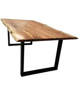 Tisch Skie natur Metall schwarz_31643