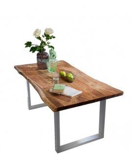 Tisch Lepo cognacfarbig Metall antiksilbern_31652