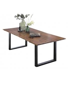 Tisch Dela cognacfarbig Metall schwarz_31653